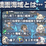【アズレン】鏡面海域の概要 自陣15隻+フレンド秘書艦1隻の最大16隻で鏡像(コピー)艦隊を撃破し、Pt素子を手に入れよう!