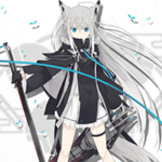 【アズレン】着せ替え紹介「江風 間奏モノクローム」コート脱いだら下は白のワンピースだろうか…